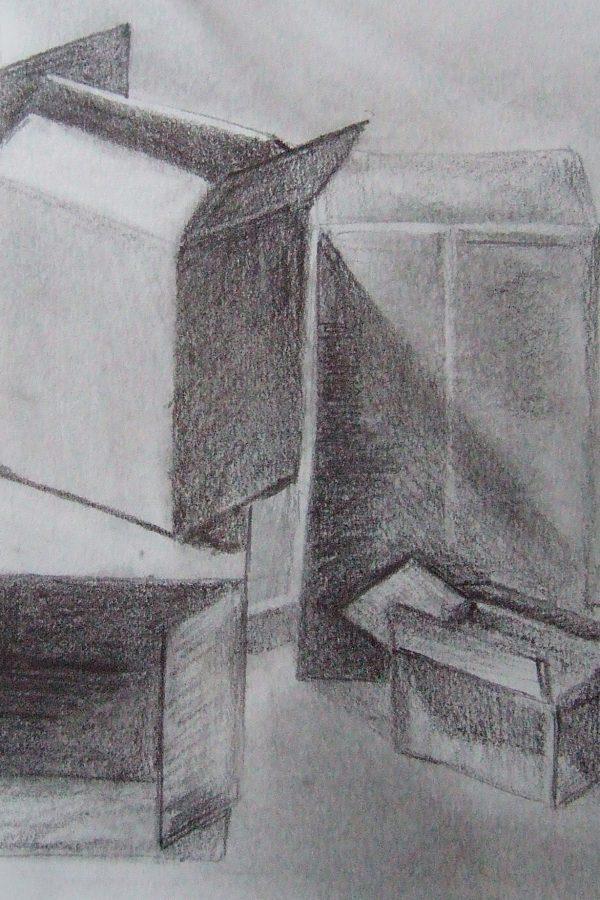 Atelier le gué, Cartons, Christophe B. Munster