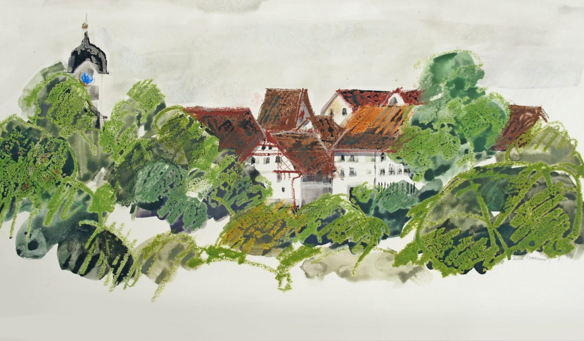 Gouache, Grüningen, Anne-Marie Bugna