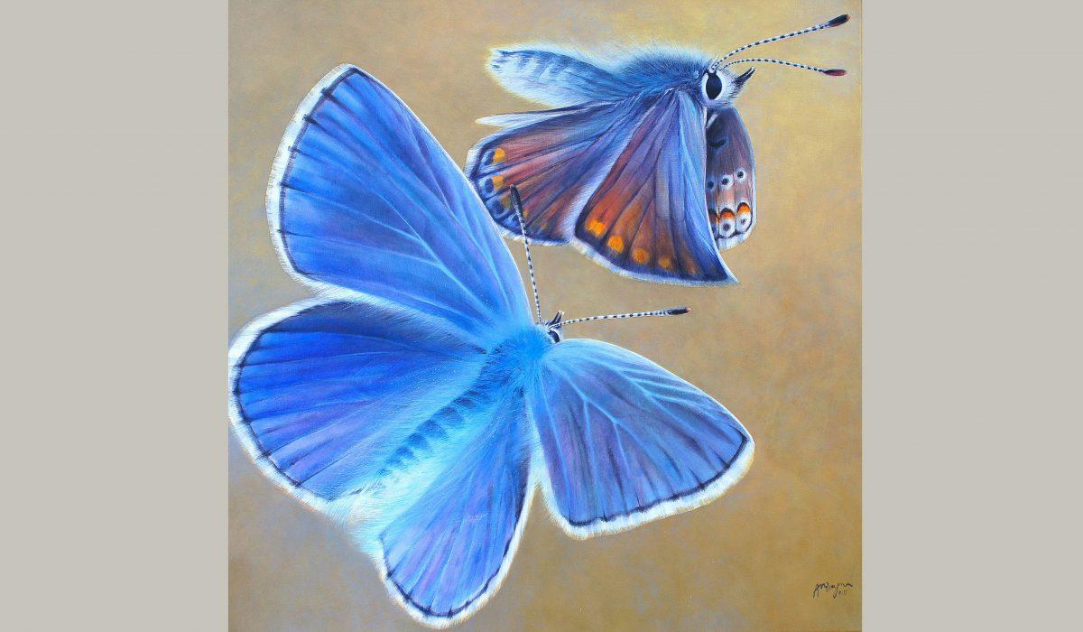 """Acrylique, """"Petits"""" bleus, Anne-Marie Bugna"""