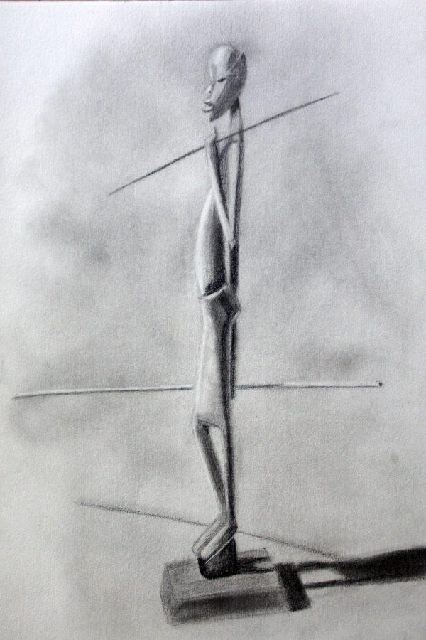Atelier le gué, Garçon à la lance, Rachel T. Eschbach au Val